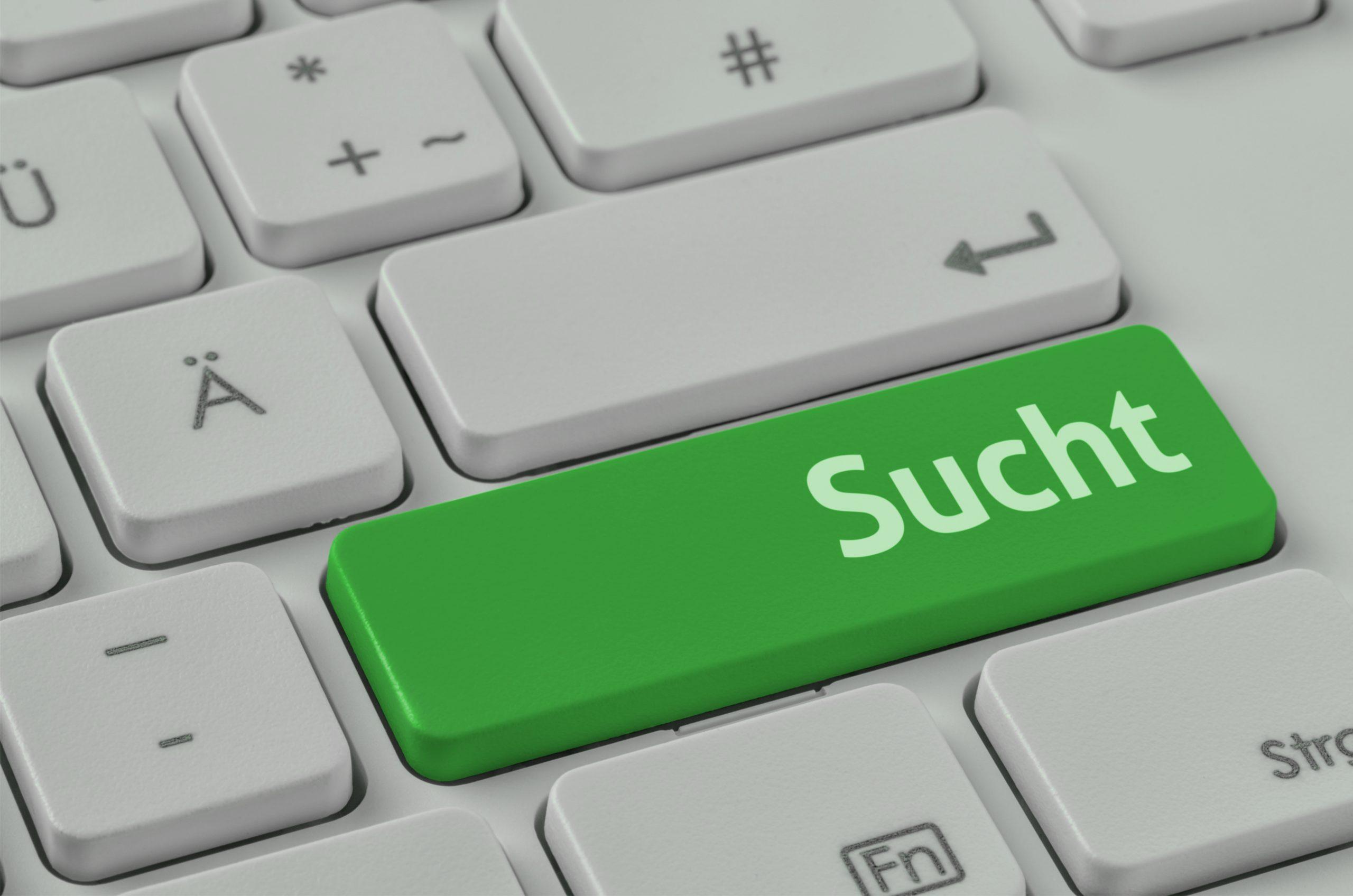 Bild Tastatur Sucht Seite Selbsttest